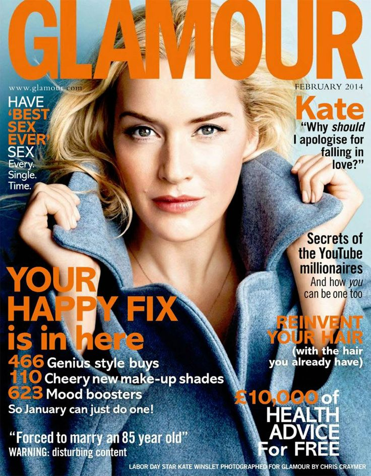 Kate Winslet in the cover story for the February 2014 edition of    Kate Winslet Weight
