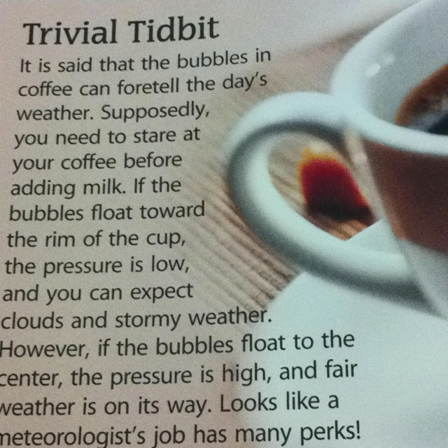 Coffee tidbit! ...I had heard this before, but forgotten about it, glad to find it again