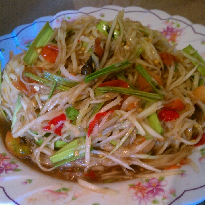 lao spicy papaya salad laos food for my soul �� pinterest