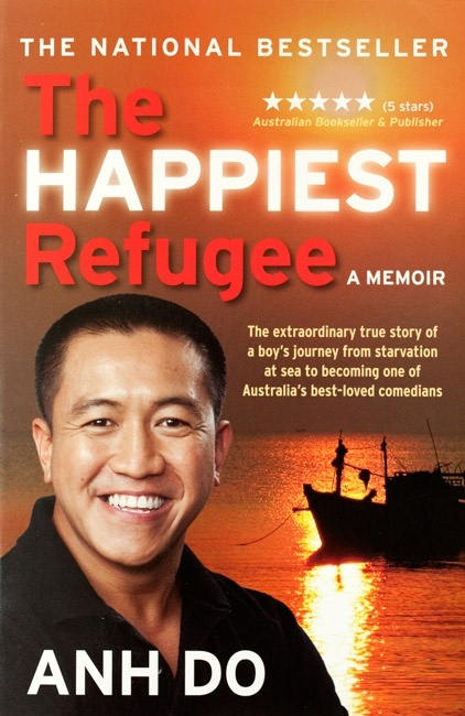 "the ahpppiest refugee The happiest refugee: a memoir, charts his journey from starving refugee to one of australia's best-loved entertainers, and was described by russell crowe as ""the most surprising and inspiring read i have had in years"" it has been awarded book of the year with sales in excess of 400,000."