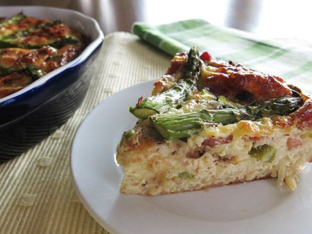 gluten free asparagus quiche | Yum | Pinterest