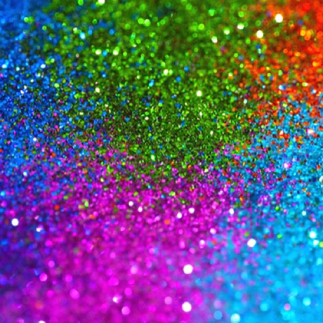 Animated glitter rainbow