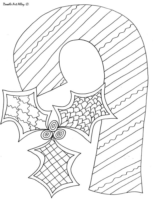 Coloring page candy cane coloring pages and printables for Coloring page candy cane