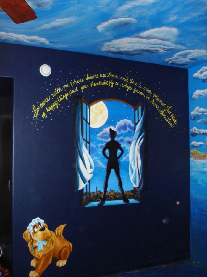 peter pan wall mural nurseries pinterest peter pan mural brooke williams williams van name