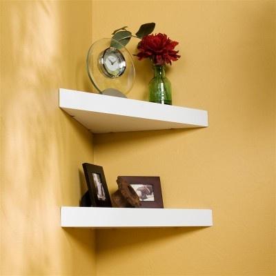 chicago corner floating shelf white home pinterest. Black Bedroom Furniture Sets. Home Design Ideas