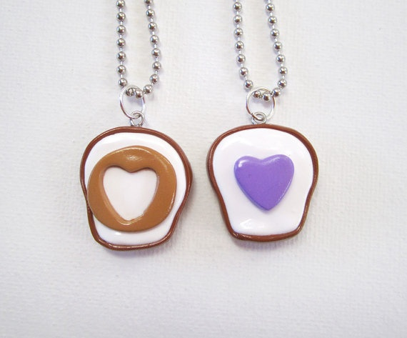 Peanut Butter and Jelly Cutout Hearts Best by MadAristocrat, $24.00