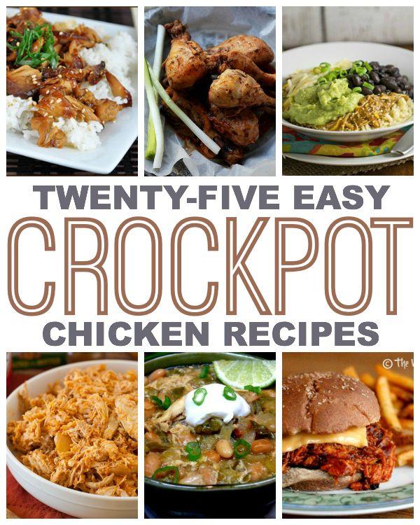 25 easy crock pot chicken recipes for Easy healthy chicken crockpot recipes