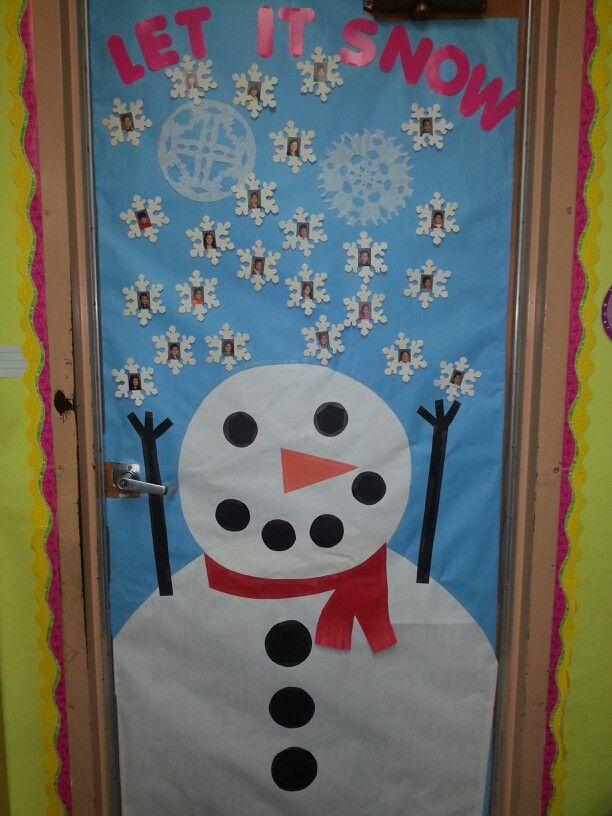 Let it snow. | Classroom door decorating | Pinterest