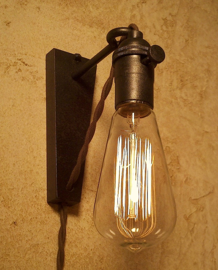 Wall Plug Hanging Lamps : Hanging Pendant Wall Sconce. Retro Edison Lamp. Plug in sconce.
