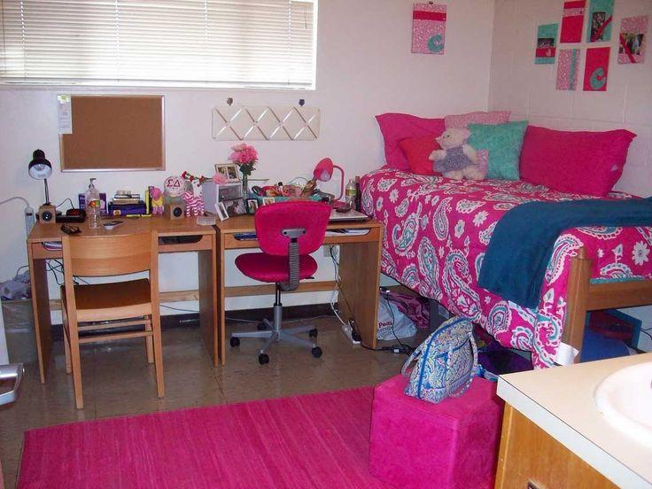 Pink Dorm Room Ideas Dorm Room Organization Pinterest