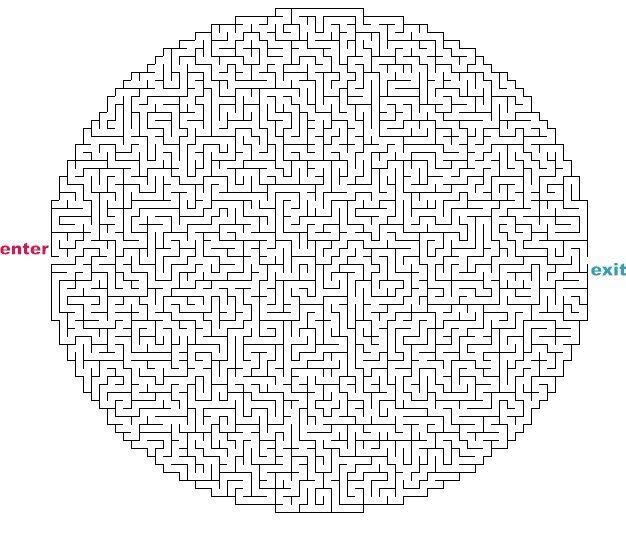 Maze pdf easy