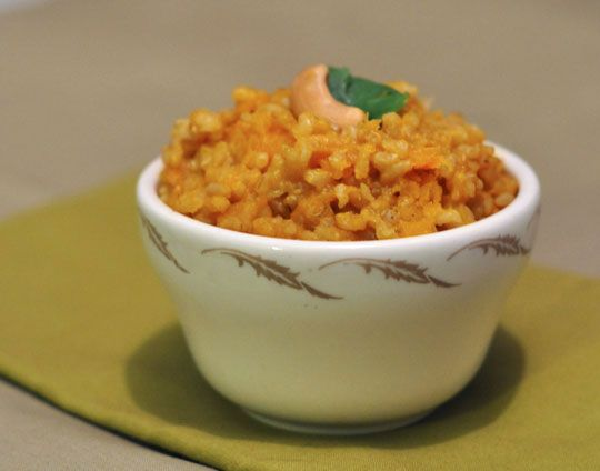 Brown Rice with Winter Squash and Cashews (note: I did not use cumin ...