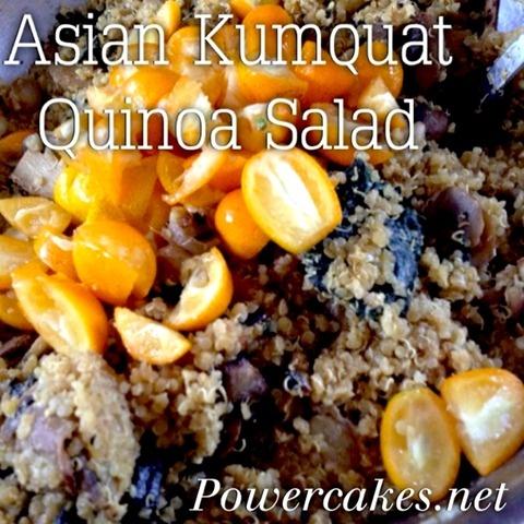 Asian Kumquat Quinoa salad from @PowerCakes! I must try this! :)
