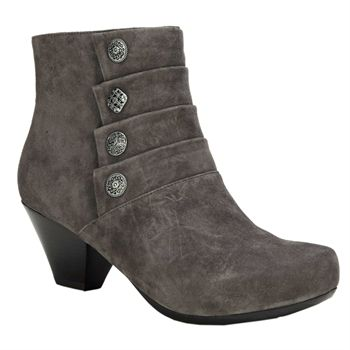 ankle bootie gray grey suede