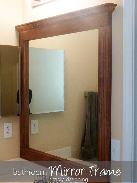 Bathroom mirror re vamp part 2 for Build your bathroom