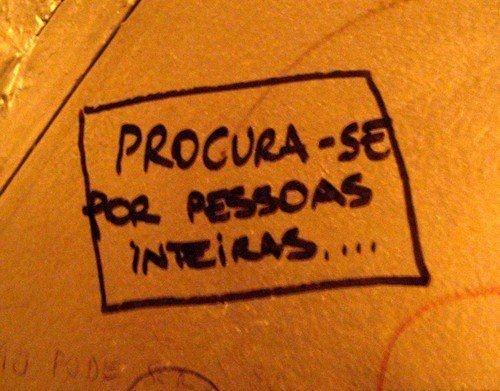 SE BUSCAN PERSONAS ENTERAS!!!