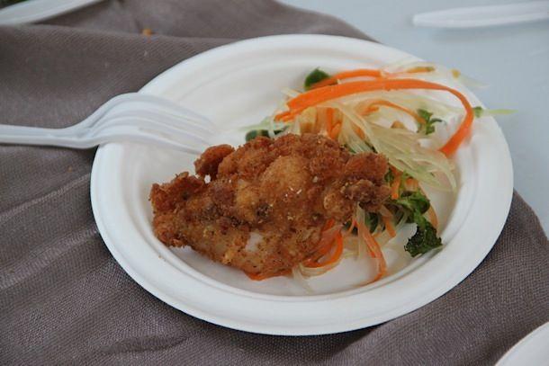 Vietnamese fried chicken seasoned with lemongrass, cilantro, chile ...