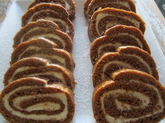 light pumpkin cream cake roll   sweet treats   Pinterest