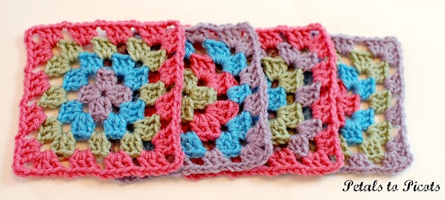 Crochet Patterns Granny Square Beginners : How to Crochet a Classic Granny Square: Granny Square Pattern
