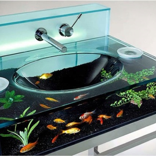 Nice fish tank! Courtney,work this into your interior design