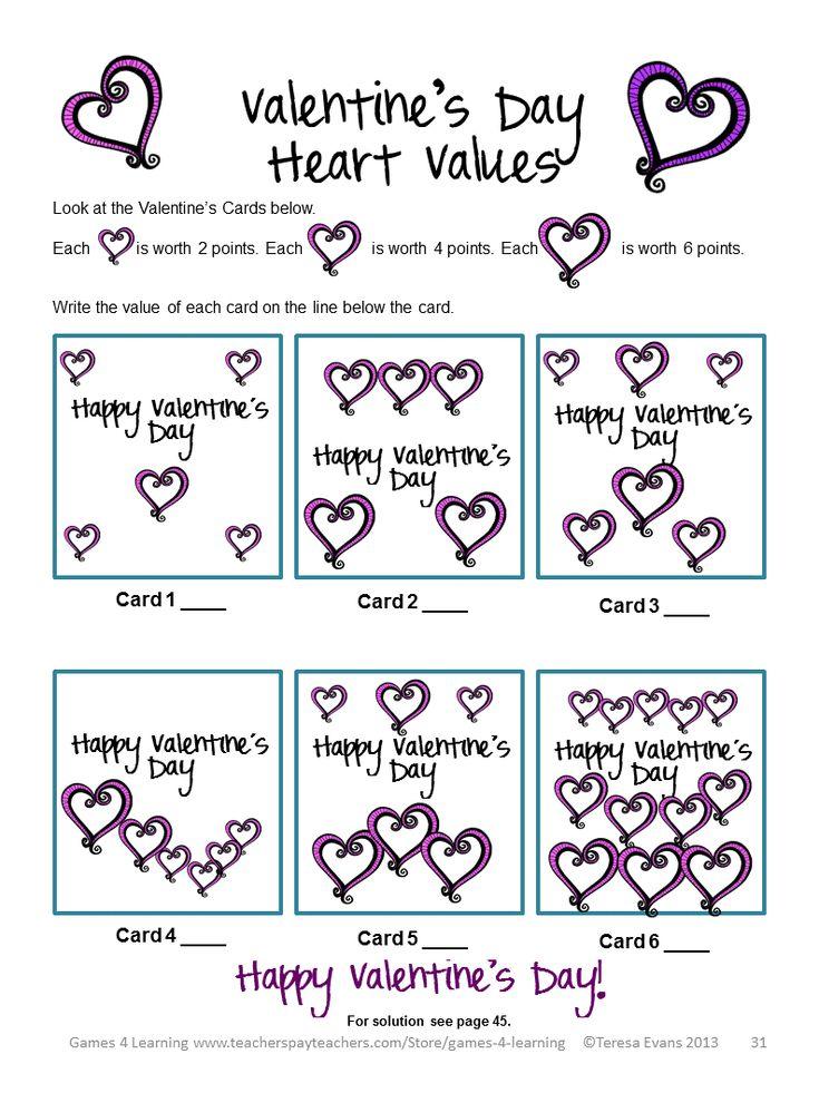 valentine's day math activities for preschoolers