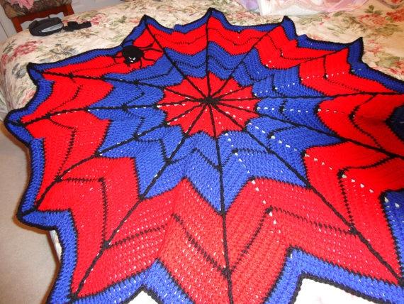 Crochet Pattern For Spiderman Blanket : SPIDERMAN CROCHET BLANKET Crochet Pinterest