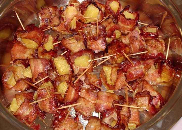 Bacon Wrapped Pineapple Recipe — Dishmaps