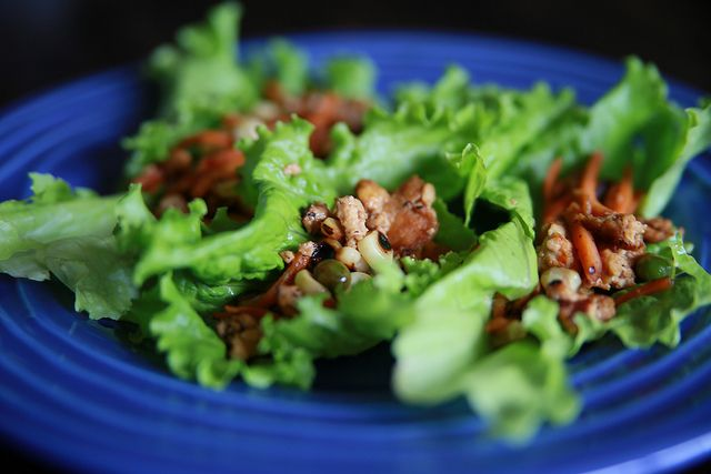 Vegetarian Lettuce Wraps | Food: Vegetarian Meatless Vegan | Pinterest