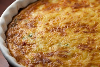 Crustless Quiche with Ham, Asaparagus, and Gruyere