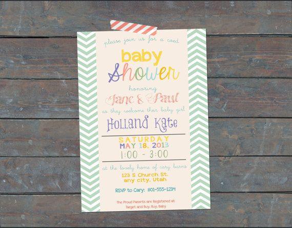 coed baby shower invitation coed girl baby by mabichetteparties 10