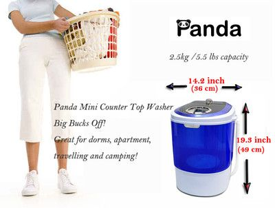 Countertop Washing Machine : ... Mini Compact Countertop Washing Machine Washer 5.5lbs XPB25-28A