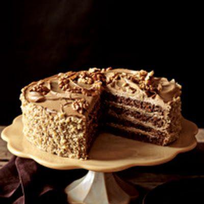 Rum-Mocha Walnut Layer Cake   Spirit Desserts   Pinterest