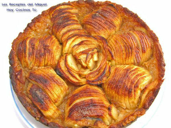 Tarta de manzana con masa de aceite