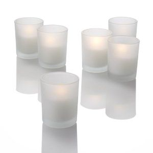 Frosted Glass Votive Candle Holders