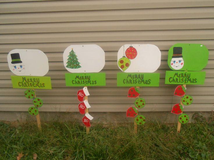 Christmas yard signs wood diy pinterest for Homemade christmas yard signs