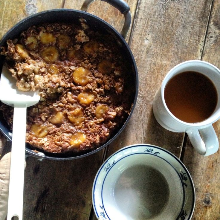 Bananas Foster Baked Oatmeal ~~ Kate in the Kitchen