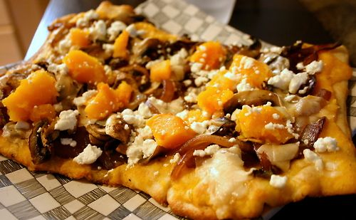 Butternut Squash, Roasted Garlic and Goat Cheese Pizza with Fennel ...