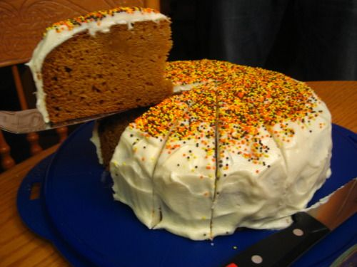 Pumpkin Spice Cake with Honey Frosting | Desserts | Pinterest