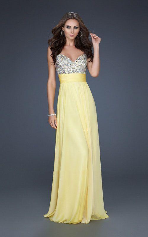 Yellow Evening Dresses By La Femme 31