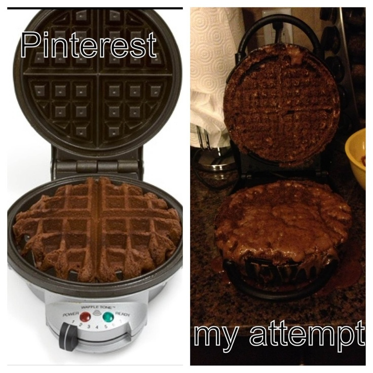 Pinstrosity: Waffle Iron Brownies | F U. | Pinterest