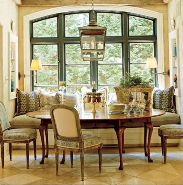 Dining area built in window seat dining areas for Dining area pictures