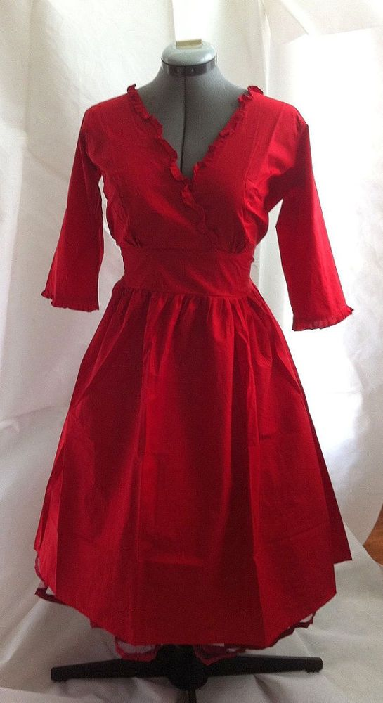 Style red rockabilly 50 s pin up costume holiday bridesmaid dress l