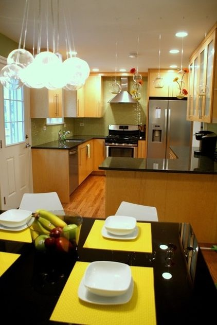 Room Spaced By Kitchen Island Kitchen Living Room Design Kitchen