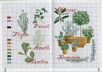 Herbes aromatiques  embroidery  Pinterest