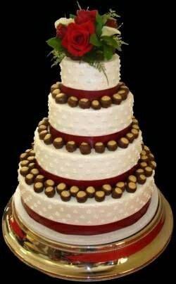 buckeye themed wedding cake | wedding theme/ohio state