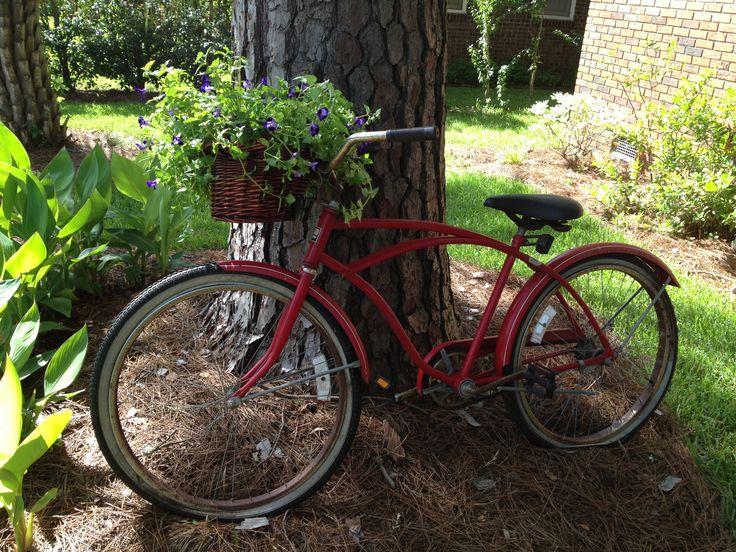 bicycle yard art yard garden ideas pinterest