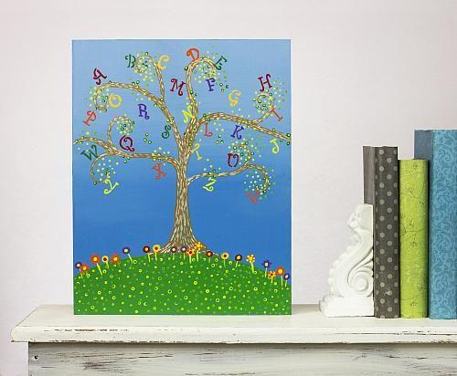 Diy Wall Decor For Classroom : Diy alphabet tree classroom wall decor