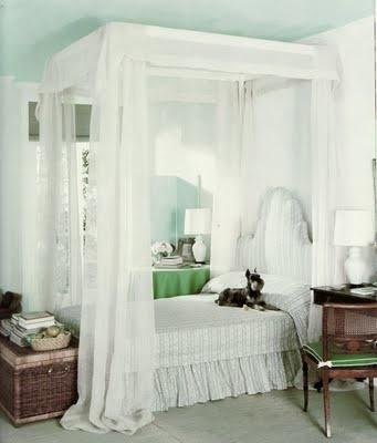 seafoam and green bedroom