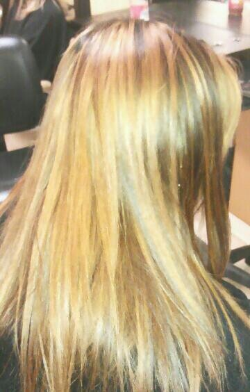 Golden blonde with lowlights | curl up & dye | Pinterest