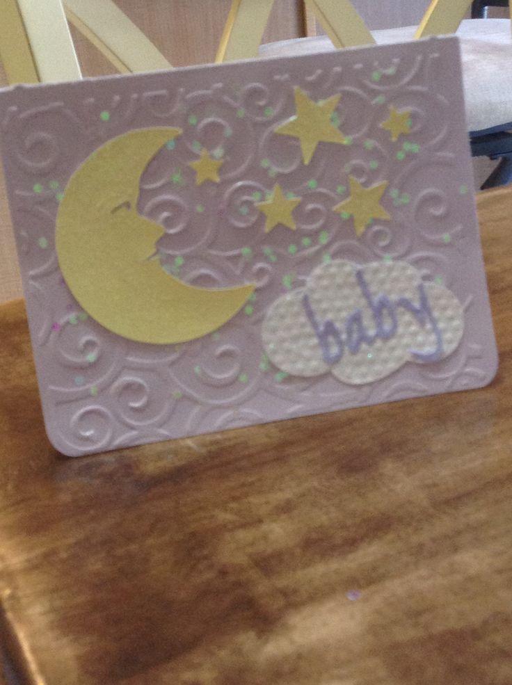 cricut card baby shower my cards creations pinterest